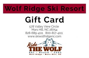 Gift Card for Wolf Ridge Ski Resort